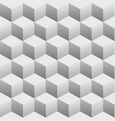 3d cubes seamless repeating pattern vector image