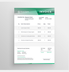 Abstract business invoice template design vector