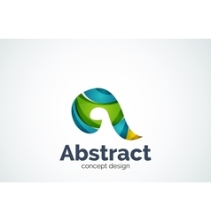 Abstract swirl logo template smooth elegant shape vector