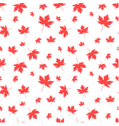 autumnal maple leaf seamless pattern vector image