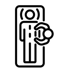 Back massage top view icon outline style vector