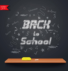 back to school 2 vector image