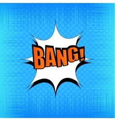 Bang comic bubble wording vector