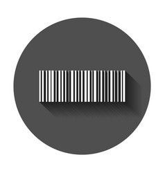 barcode product distribution icon with long vector image