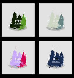 Beautiful watercolor backgrounds vector