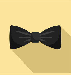 black bow tie icon flat style vector image