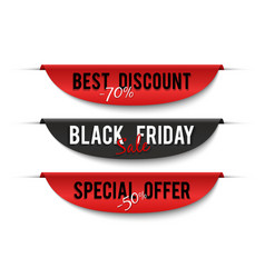 black friday sale special price labels sale vector image