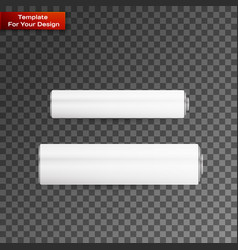 blank battery on transparent backgraund vector image