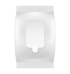 Blank white package with flap for wet wipes vector