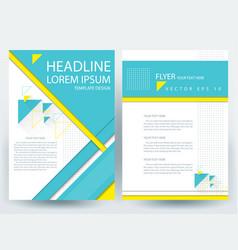 Business corporate brochure template design vector
