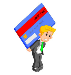 Businessman shouldered credit card vector