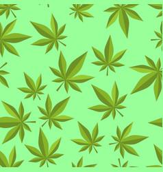 Cannabis seamless pattern marijuana texture ganja vector