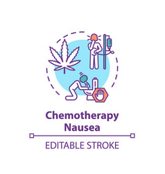 Chemotherapy nausea concept icon vector