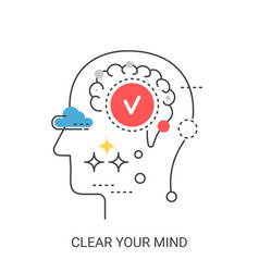 Clear your mind concept vector