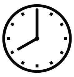 Clock 8 vector image