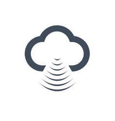cloud data sharing with wlanwifi icon isolated on vector image
