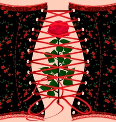 corset and rose vector image