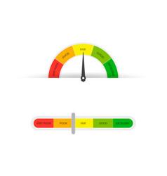 credit score gauge manometer on white background vector image