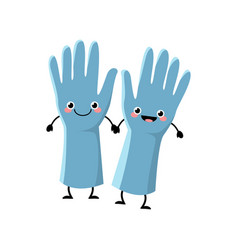 cute cartoon gloves character vector image