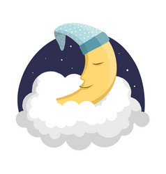 design of dreams and night logo collection vector image