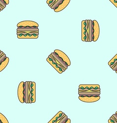 Double hamburger colored seamless pattern vector