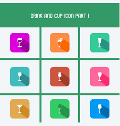 drink and cup icon part i vector image