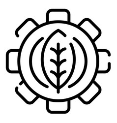 Eco leaf farm gear icon outline style vector
