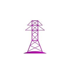 Electric tower line icon vector