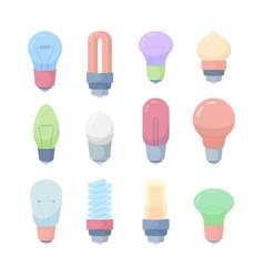 electricity bulbs idea concept symbols lights vector image