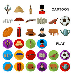 England country cartoon icons in set collection vector