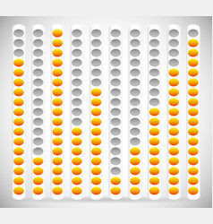 Eq equalizer element with yellow and gray colors vector