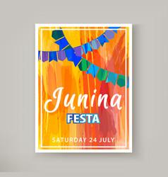 Festa junina holiday vector