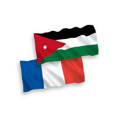 Flags france and hashemite kingdom jordan on vector