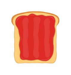 fried bread toast strawberry jam jelly paste vector image