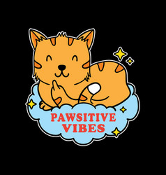 Funny cat showing you symbol vector