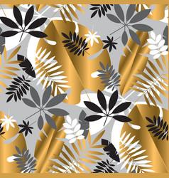 geometric luxury jungle foliage seamless pattern vector image