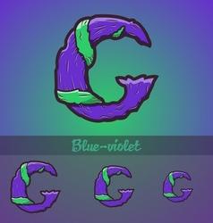Halloween decorative alphabet - G letter vector