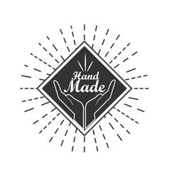 Hand Made label handmade crafts workshop vector