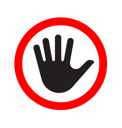 human palm stop sign icon vector image