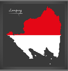 Lampung indonesia map with indonesian national vector