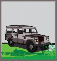 land rover vector image