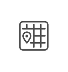 location line icon vector image