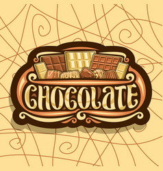 Logo for chocolate vector
