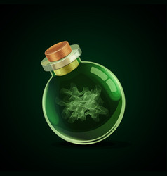 magic bottle with smoke vector image