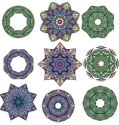 Mandalas Round Ornament Pattern vector