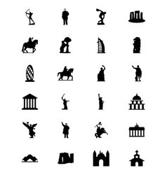 Monuments Icons 2 vector image