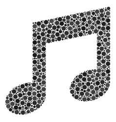 Music collage of dots vector