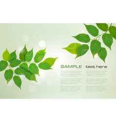 Nature green background vector