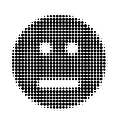 Neutral smiley halftone dotted icon vector