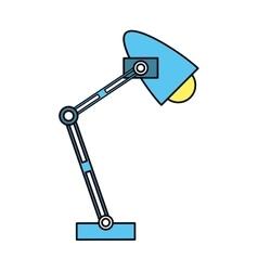 Office desk blue lamp light icon vector